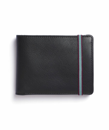 Black Minimalist Wallet by Carré Royal Front (LA902 Noir)