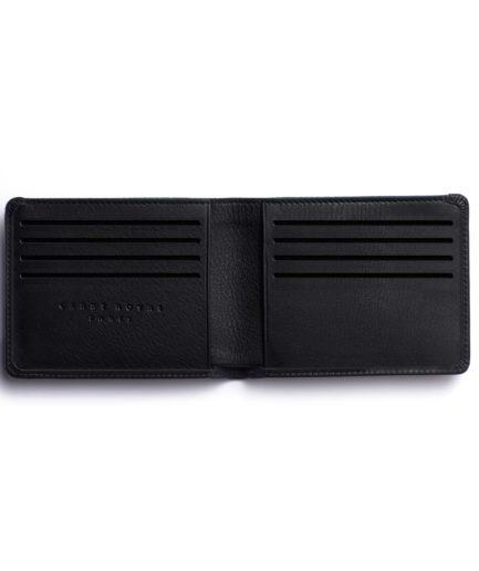 Black Minimalist Wallet by Carré Royal Open (LA902-Noir)