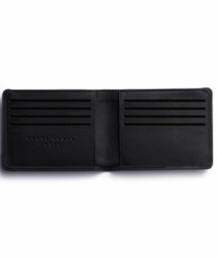 Black Minimalist Wallet by Carré Royal Open (LA902-Noir)