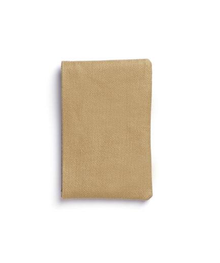 Beige Canvas Card Holder by Carré Royal Back (JA003-Beige)