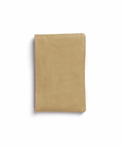 Vegetal Tanned Leather Beige Canvas Card Holder by Carré Royal Back (JA003 Beige)