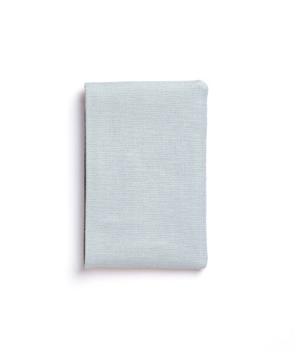 Light Blue Canvas Card Holder by Carré Royal Back (JA003-Bleu Ciel)