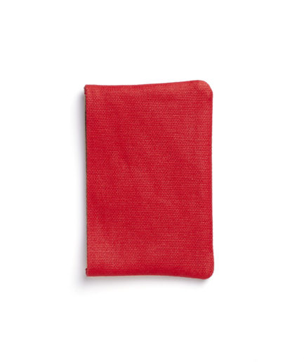 Red Canvas Card Holder by Carré Royal Back (JA003-Rouge)