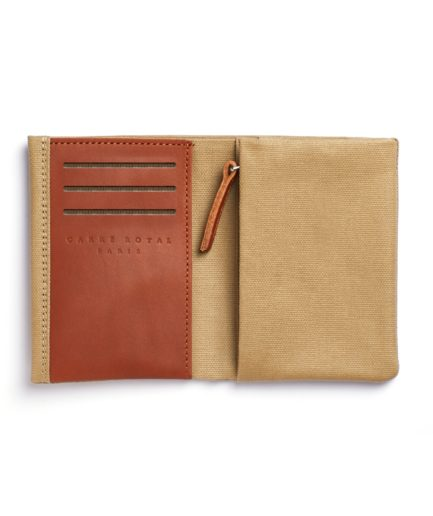 Beige Canvas Wallet by Carré Royal Open (JA104-Beige)