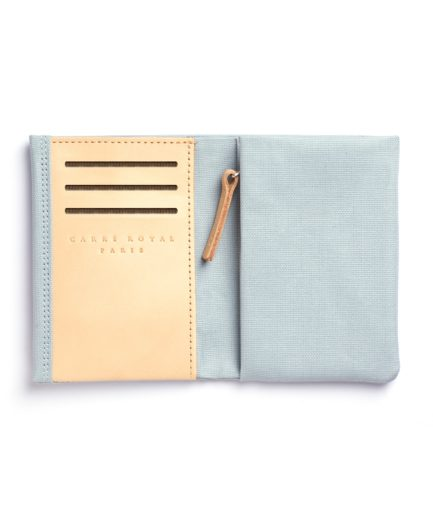 Light Blue Canvas Wallet by Carré Royal Open (JA104-Bleu Ciel)