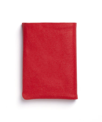 Red Canvas Wallet by Carré Royal Closed (JA104-Rouge)