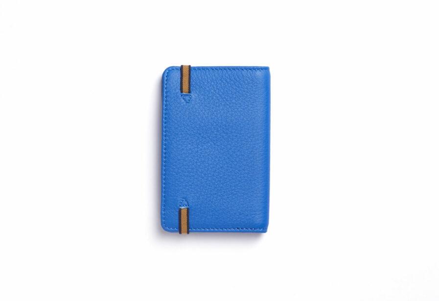 Light Blue Card Holder in Calfskin Leather by Carré Royal Back (LA024 Bleu Ciel)