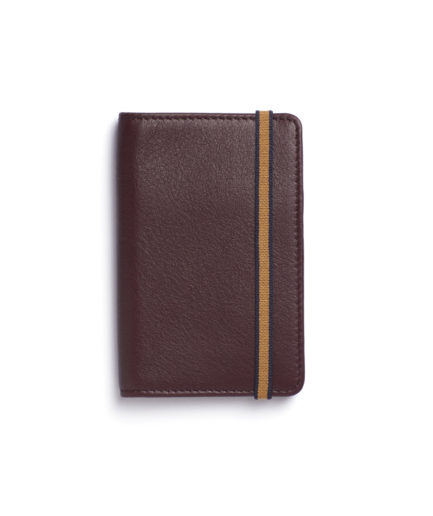 Burgundy Card Holder by Carré Royal Front (LA024-Bordeaux)