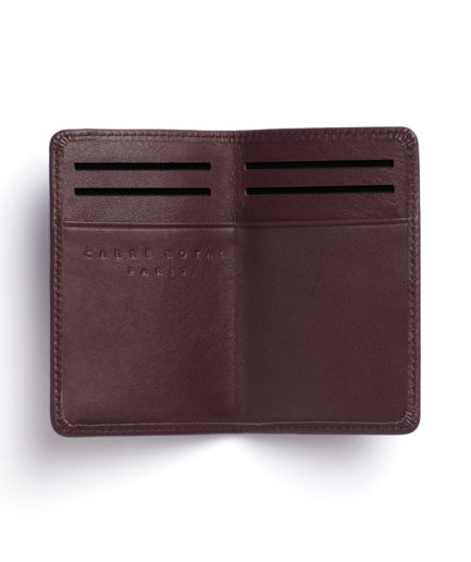 Burgundy Card Holder by Carré Royal Open (LA024-Bordeaux)