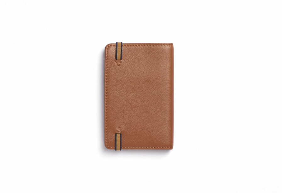 Gold Card Holder in Calfskin Leather by Carré Royal Back (LA024 Gold)