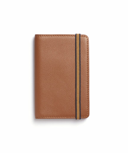 Gold Card Holder in Calfskin Leather by Carré Royal Front (LA024 Gold)