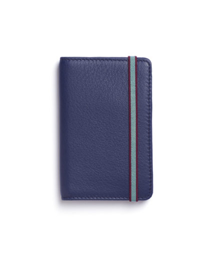 Navy Card Holder by Carré Royal Front (LA024-Marine)