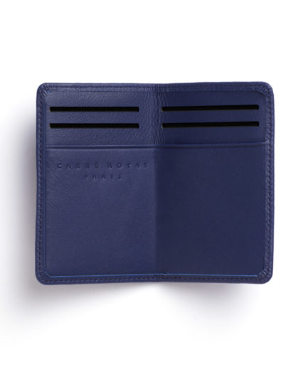 Navy Card Holder by Carré Royal Open (LA024-Marine)