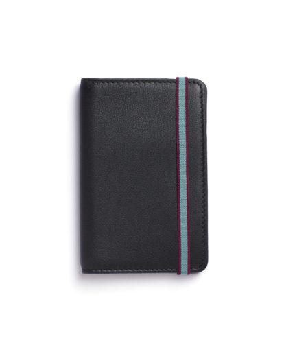 Black Card Holder by Carré Royal Front (LA024-Noir)