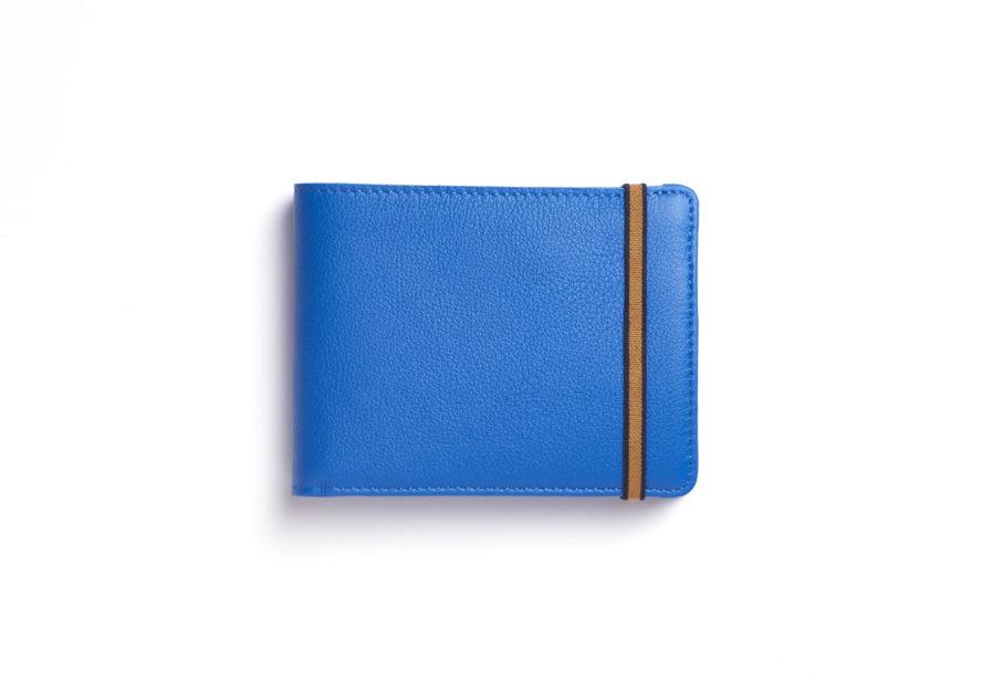 Light Blue Minimalist Wallet With Coin Pocket by Carré Royal Front (LA901-Bleu Ciel)