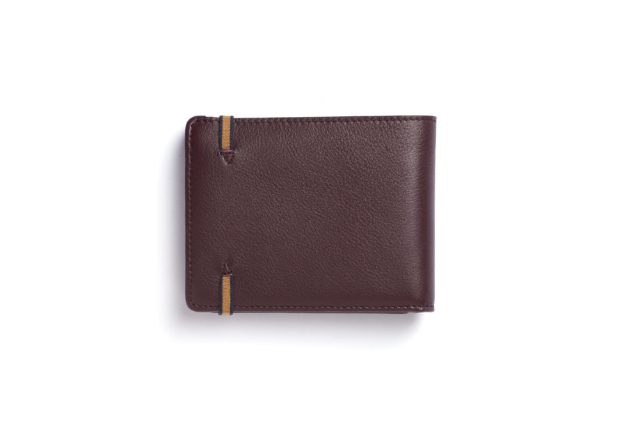 Burgundy Minimalist Wallet With Coin Pocket by Carré Royal Back (LA901-Bordeaux)