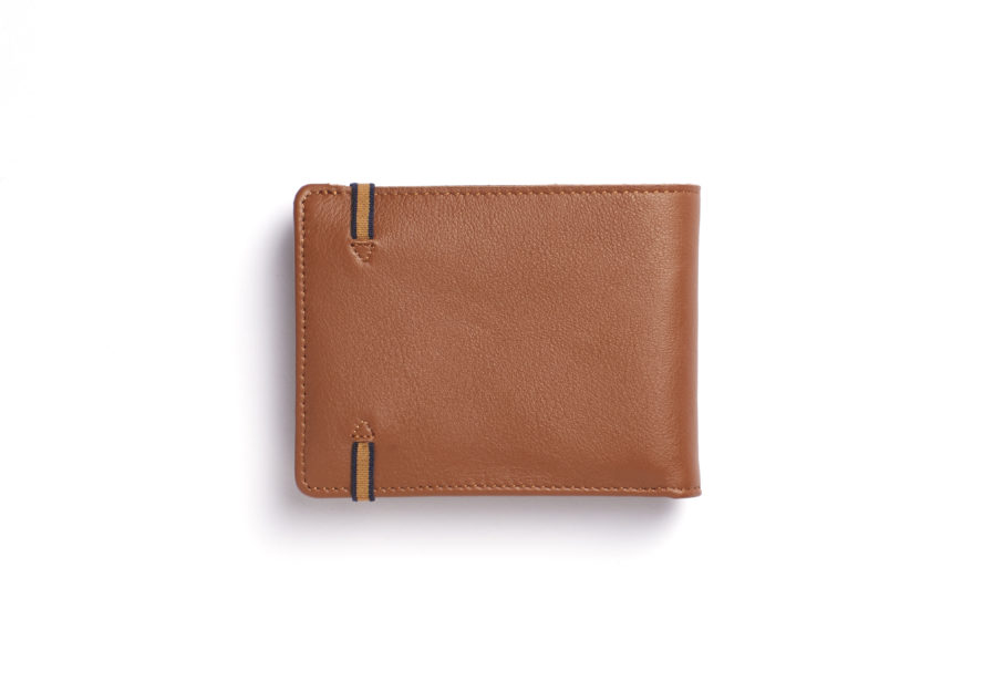 Gold Minimalist Wallet With Coin Pocket by Carré Royal Back (LA901-Gold)