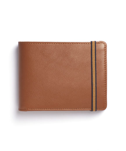 Gold Minimalist Wallet With Coin Pocket by Carré Royal Front (LA901-Gold)
