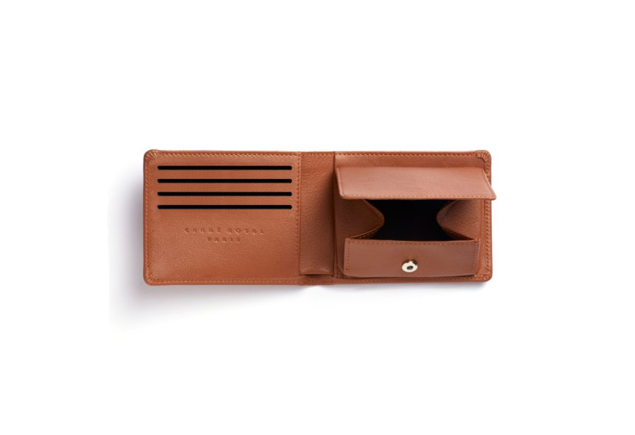 Gold Minimalist Wallet With Coin Pocket by Carré Royal Open (LA901-Gold)