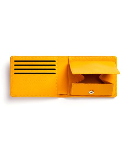 Yellow Minimalist Wallet With Coin Pocket by Carré Royal Open (LA901-Jaune)