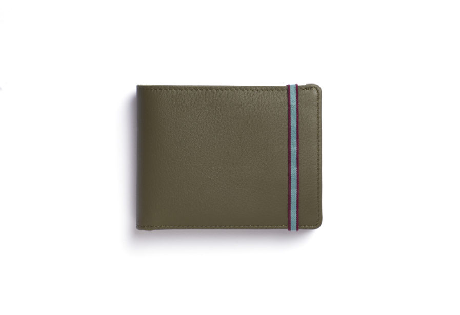 Kaki Minimalist Wallet With Coin Pocket by Carré Royal Front (LA901-Kaki)