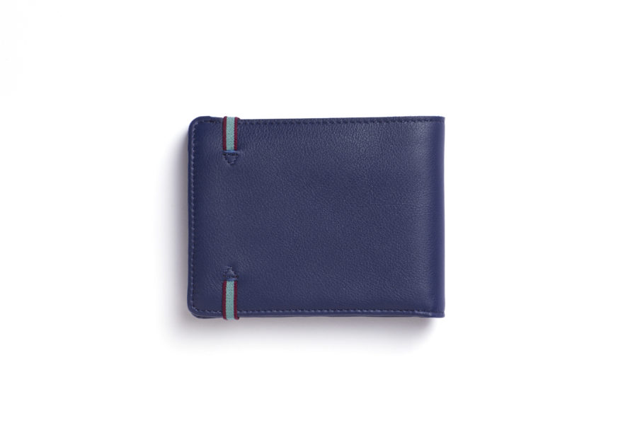 Navy Minimalist Wallet With Coin Pocket by Carré Royal Back (LA901-Marine)