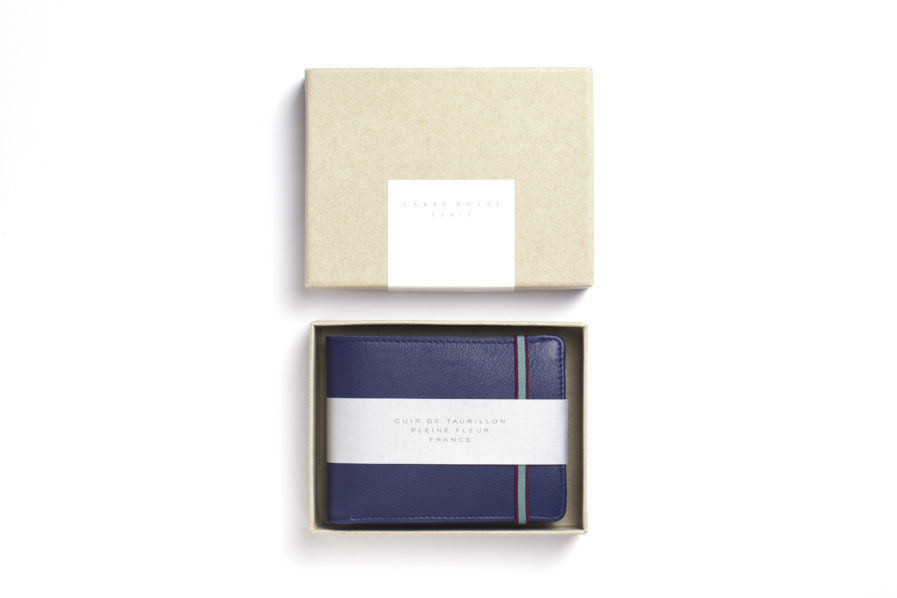 Navy Minimalist Wallet With Coin Pocket by Carré Royal Box (LA901-Marine)