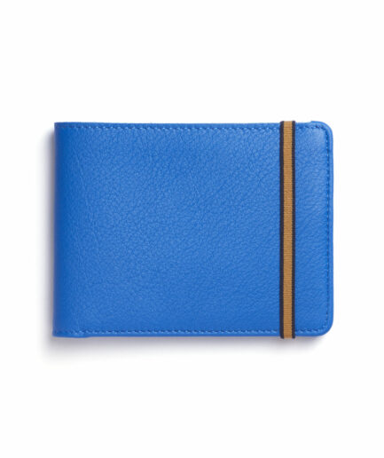 Light Blue Minimalist Wallet by Carré Royal Front (LA902 Bleu Ciel)