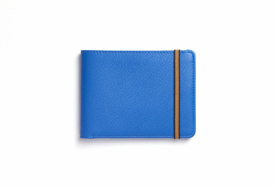 Portefeuille Minimaliste Bleu Ciel en Cuir de Carré Royal de face (LA902 Bleu Ciel)