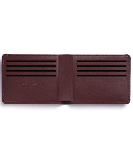 Burgundy Minimalist Wallet by Carré Royal Open (LA902-Bordeaux)