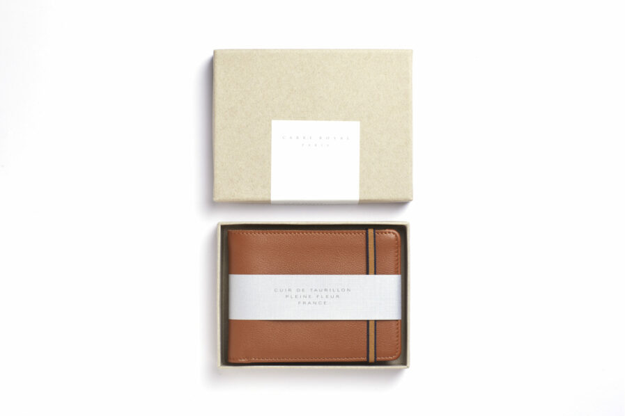 Gold Minimalist Wallet by Carré Royal in the Box (LA902 Gold)