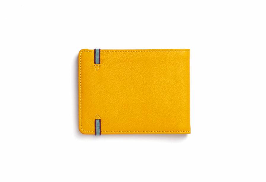 Yellow Minimalist Wallet by Carré Royal Back (LA902 Jaune)