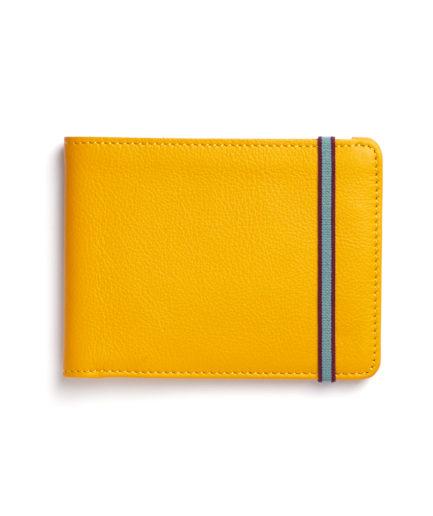 Yellow Minimalist Wallet by Carré Royal Front (LA902-Jaune)
