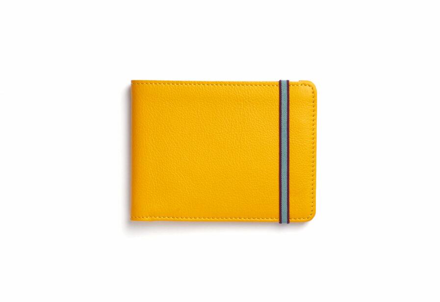 Yellow Minimalist Wallet by Carré Royal Front (LA902 Jaune)
