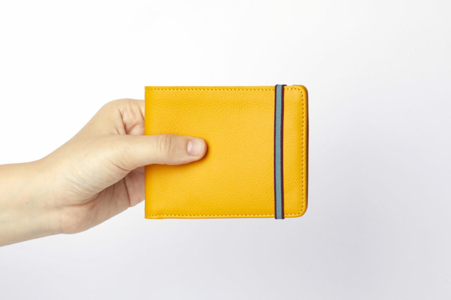 Yellow Minimalist Wallet by Carré Royal at Hand (LA902 Jaune)