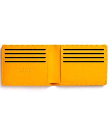 Yellow Minimalist Wallet by Carré Royal Open (LA902-Jaune)