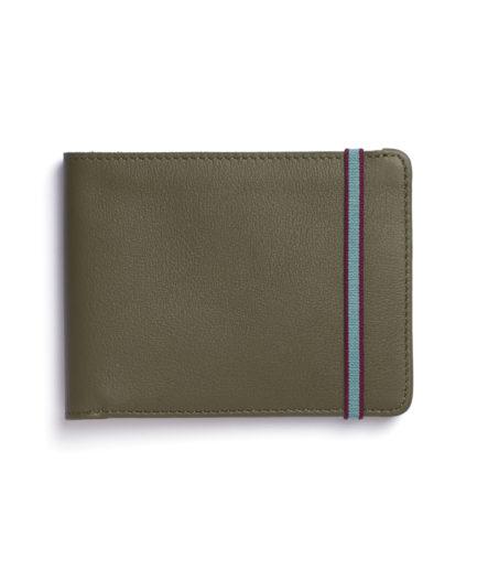 Kaki Minimalist Wallet by Carré Royal Front (LA902-Kaki)