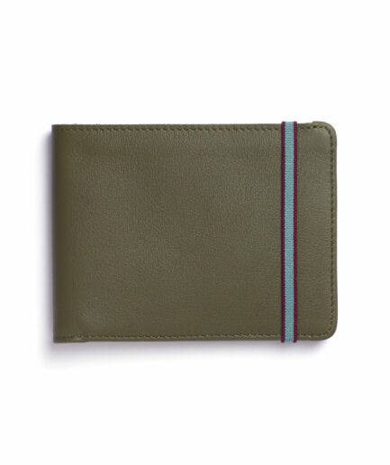 Kaki Minimalist Wallet by Carré Royal Front (LA902 Kaki)