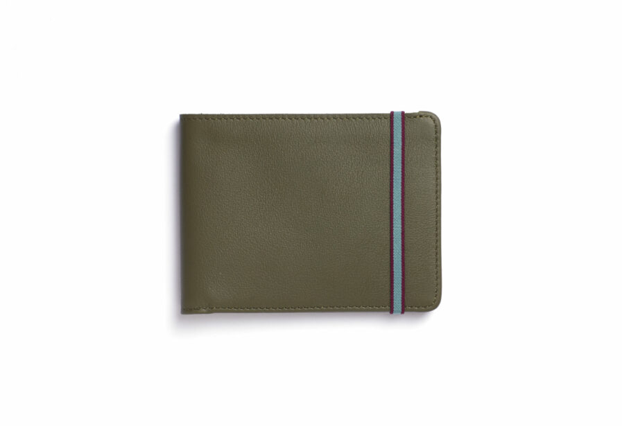 Kaki Minimalist Wallet by Carré Royal Front (LA902 Kaki)