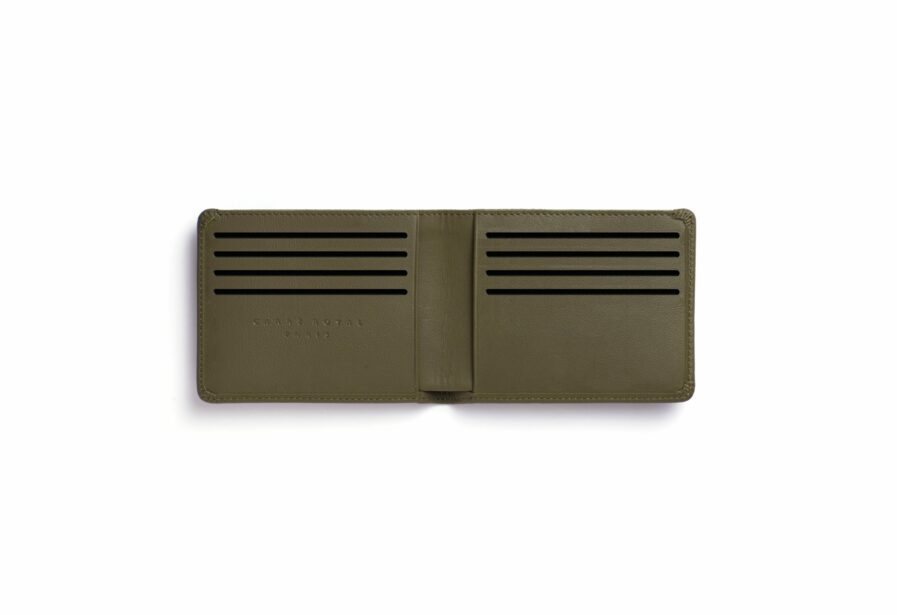 Kaki Minimalist Wallet by Carré Royal Open (LA902 Kaki)