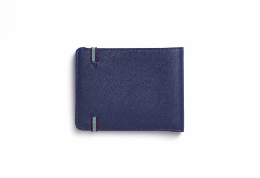 Navy Minimalist Wallet by Carré Royal Back (LA902 Marine)