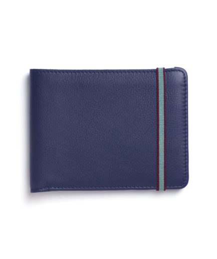 Navy Minimalist Wallet by Carré Royal Front (LA902-Marine)