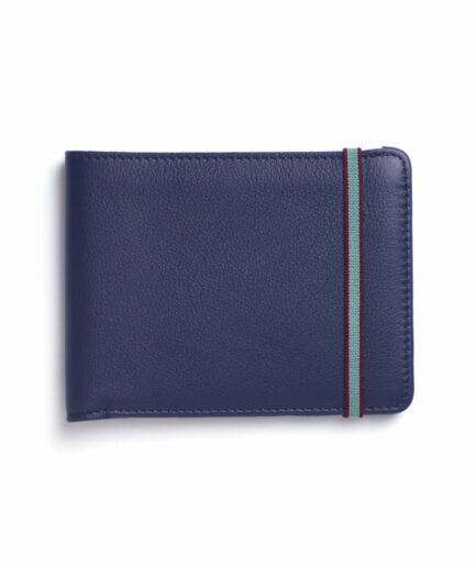 Navy Minimalist Wallet by Carré Royal Front (LA902 Marine)