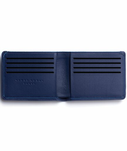 Navy Minimalist Wallet by Carré Royal Open (LA902 Marine)