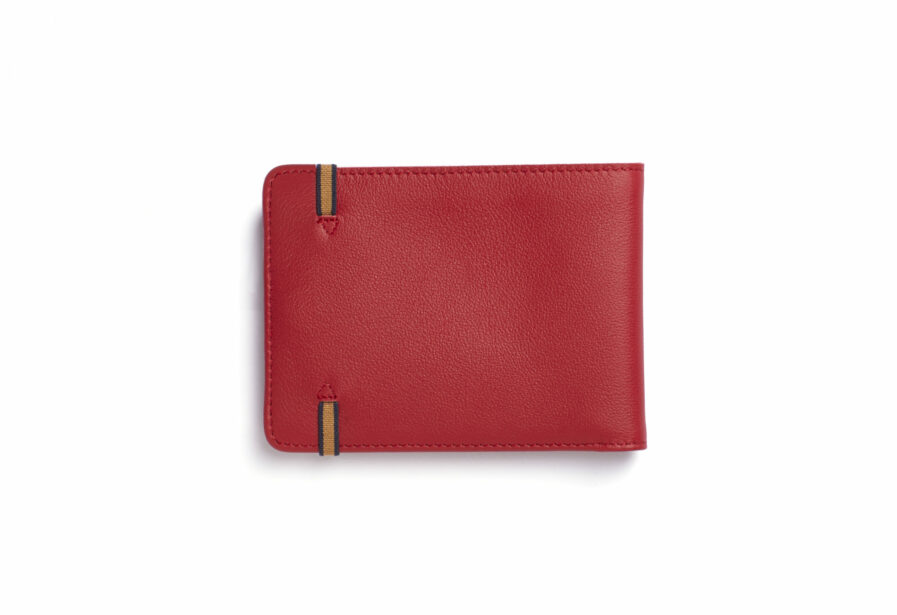 Red Minimalist Wallet by Carré Royal Back (LA902 Rouge)