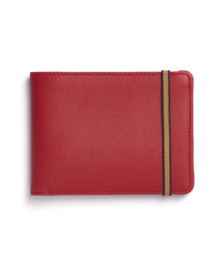 Red Minimalist Wallet by Carré Royal Front (LA902-Rouge)