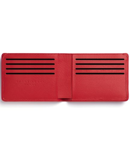 Red Minimalist Wallet by Carré Royal Open (LA902-Rouge)