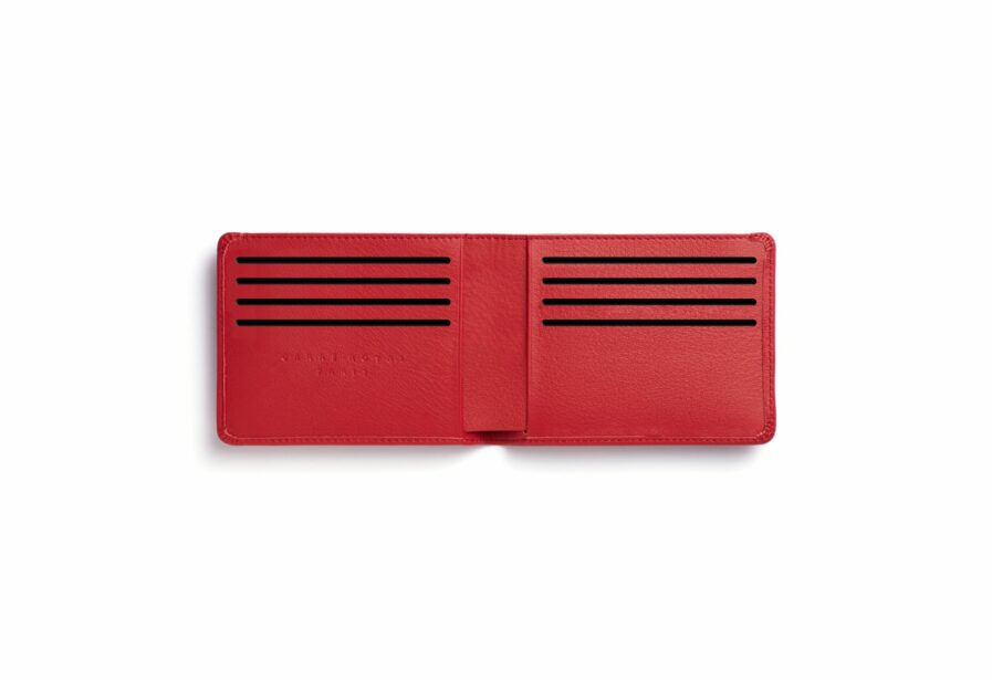 Red Minimalist Wallet by Carré Royal Open (LA902 Rouge)