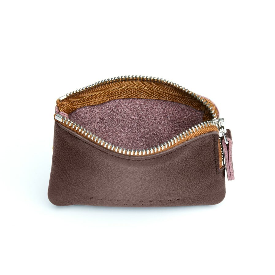 Burgundy Minimalist Purse in Calfskin Leather by Carré Royal Open (AT302 Burgundy)