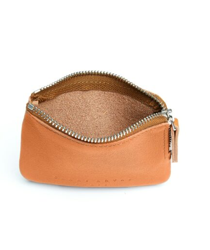 Gold Minimalist Purse in Calfskin Leather by Carré Royal Open (AT302 Gold)